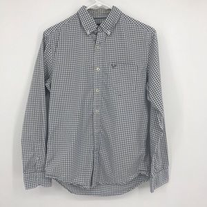 Mens Small American Eagle Athletic Fit Plaid Shirt